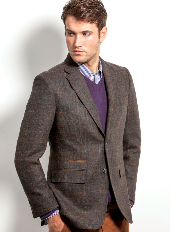 3096 Mens Brown Wool Mix Blazer by Vedoneire of Ireland